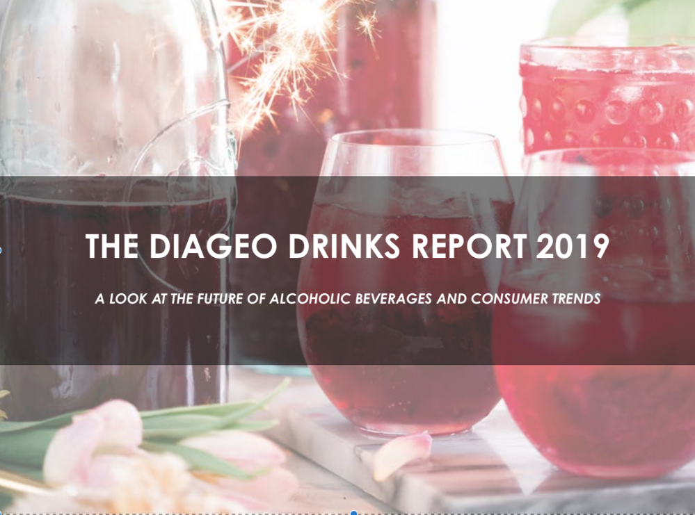 Diageo Drinks Report predicts 12% growth