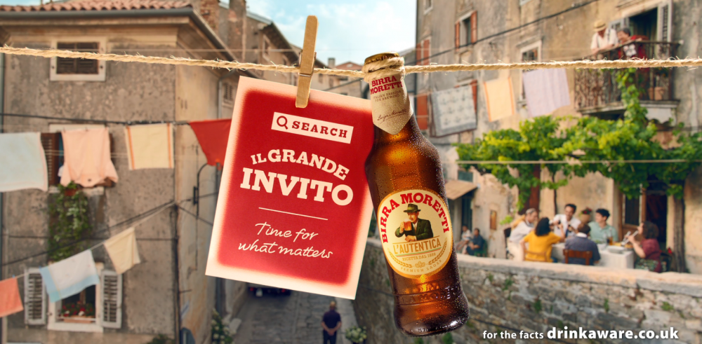 Big invitation from Birra Moretti